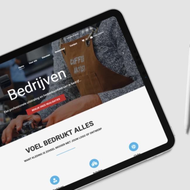 Webdesign Voel Textieldruk door marketinX