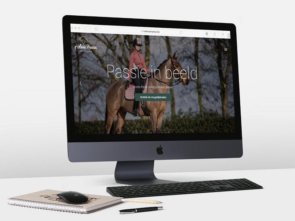 Webdesign Helena Massa paardenfotografie