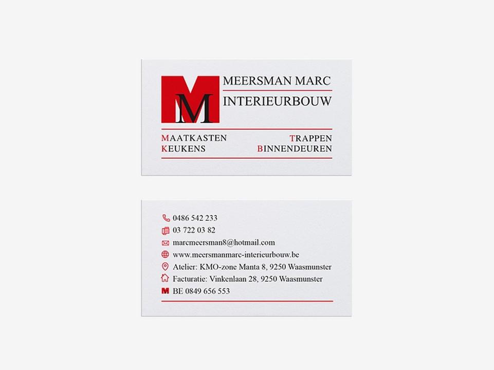 Visitekaartjes Marc Meersman interieurbouw