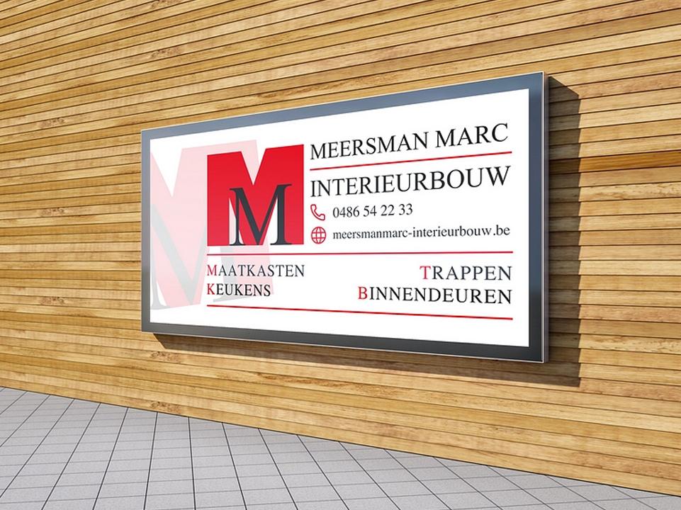Uithangbord Marc Meersman Interieurbouw