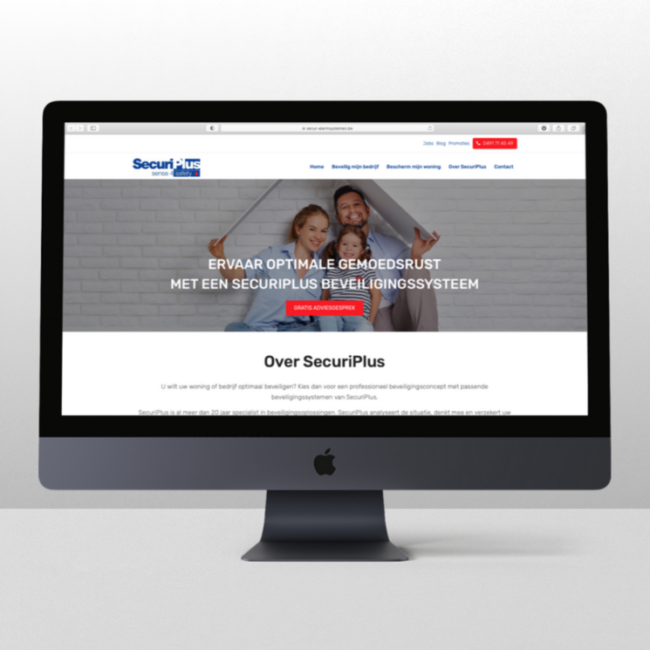 Webdesign SecuriPlus door marketinX