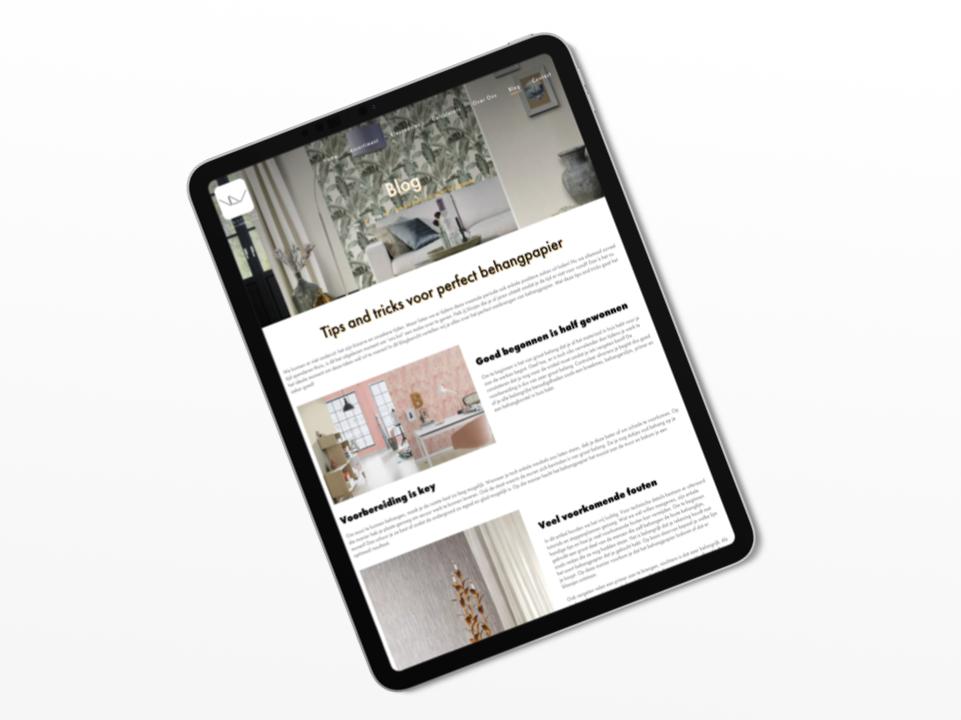 Blog content marketing Van De Velde Home