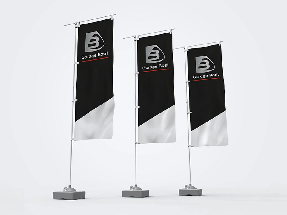 Garage Boel vlaggen