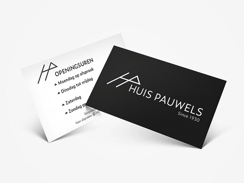 Huis Pauwels visitekaartje