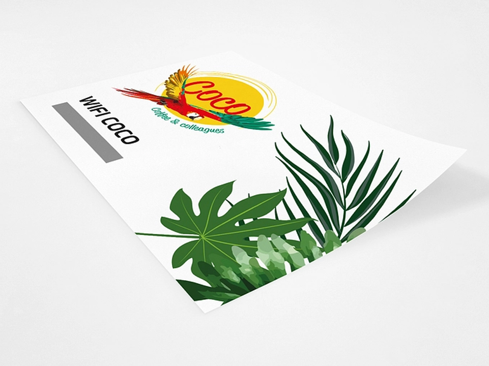 Bar Coco Wifi kaartje