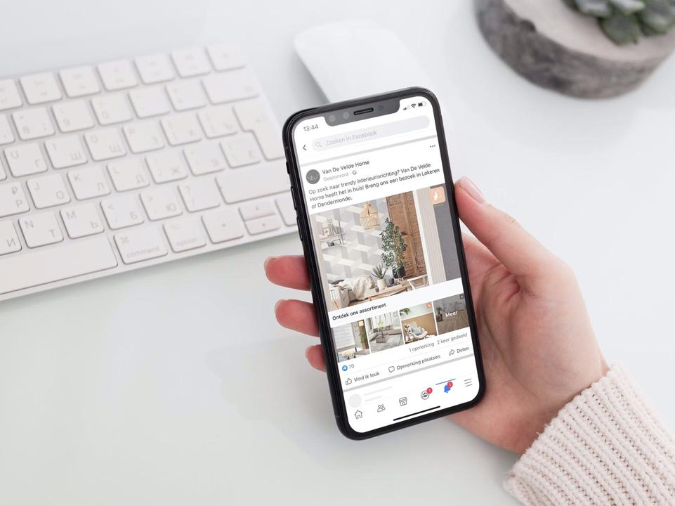 Van de Velde Home social media door marketinX