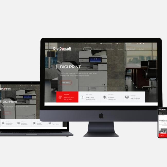 Webdesign Digi Consult door marketinX