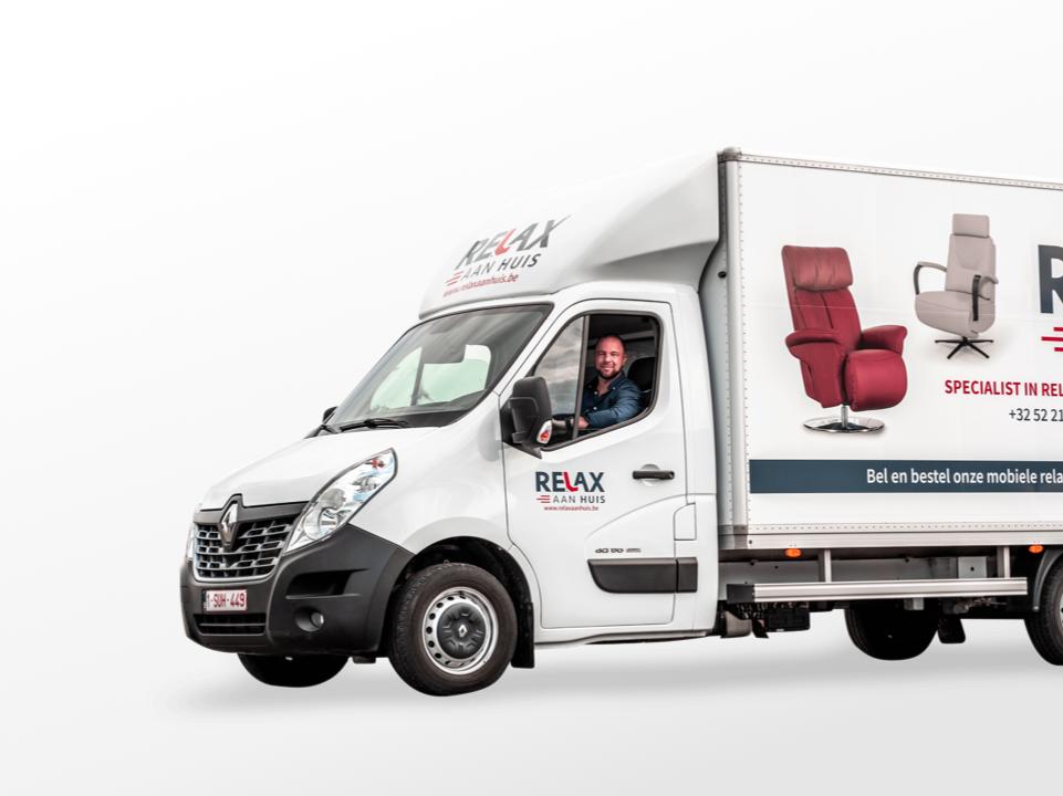 Relax Aan Huis bestickering wagen door marketinX