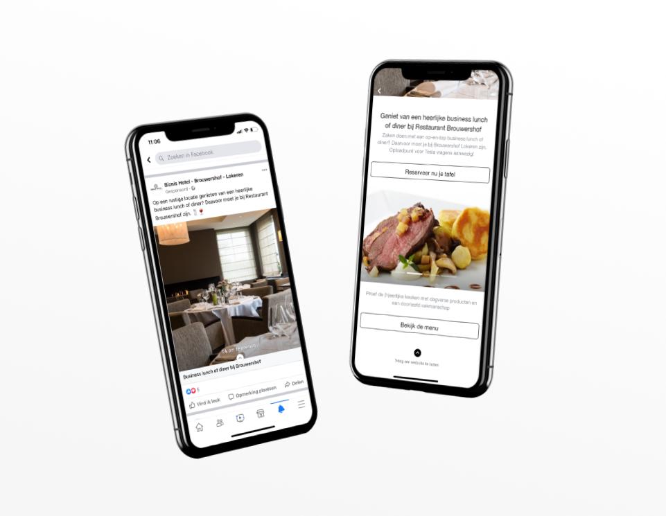 Biznis Hotel social media marketing door marketinX
