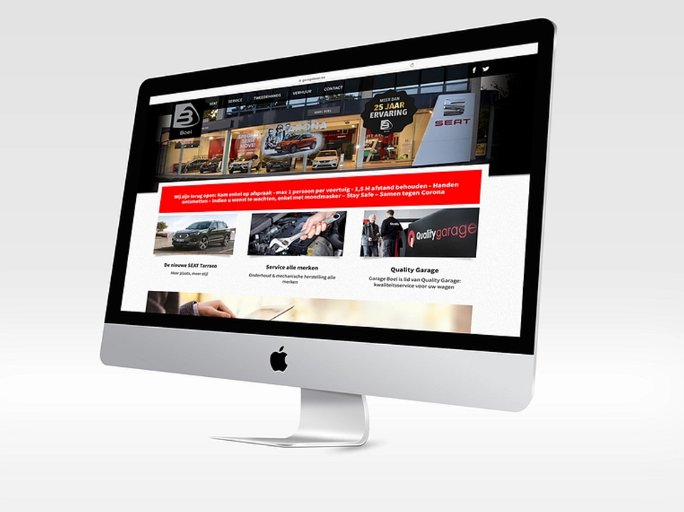 Webdesign Garage Boel