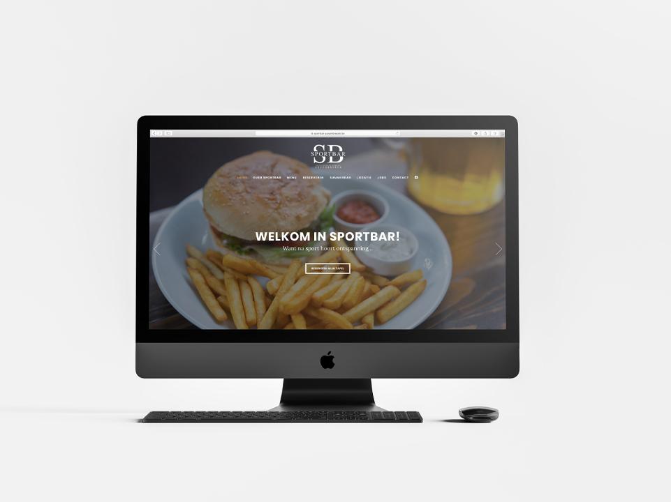 Webdesign Sportbar door marketinX