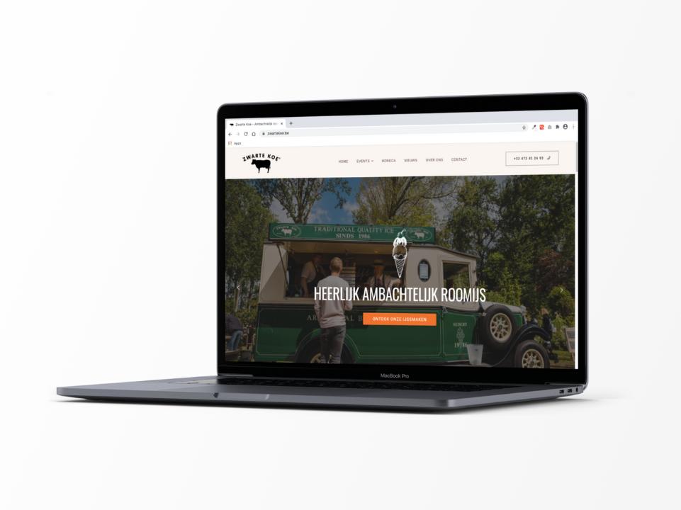 Webdesign Zwarte Koe door marketinX