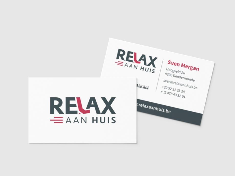 Visitekaartjes Relax Aan Huis