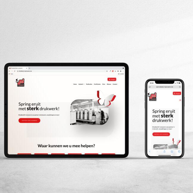 Webdesign Drukkerij M. Janssens door marketinX